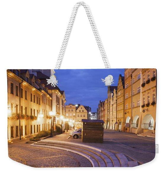 City Of Jelenia Gora By Night Weekender Tote Bag