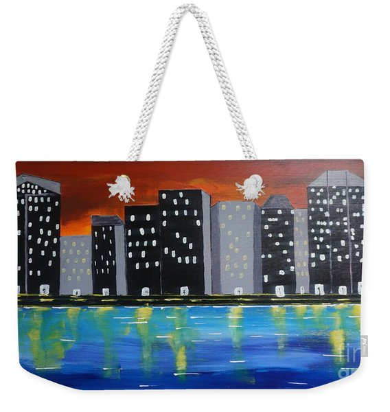 City Scape_night Life Weekender Tote Bag