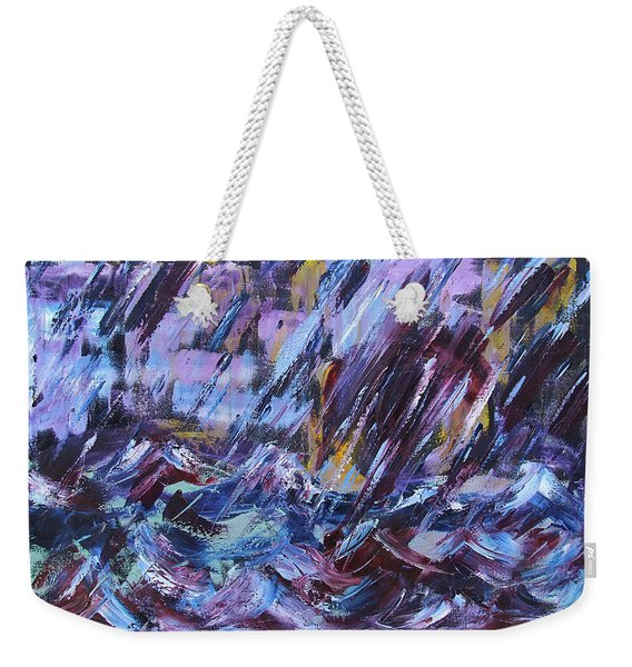 City Storm Abstract Weekender Tote Bag