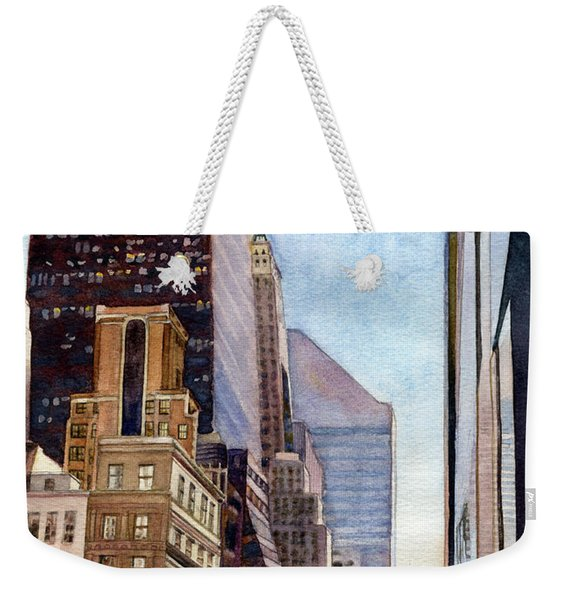 City Sunrise Weekender Tote Bag
