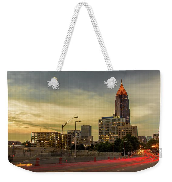 City Sunset Weekender Tote Bag
