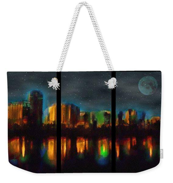 City Under A Blue Moon Weekender Tote Bag