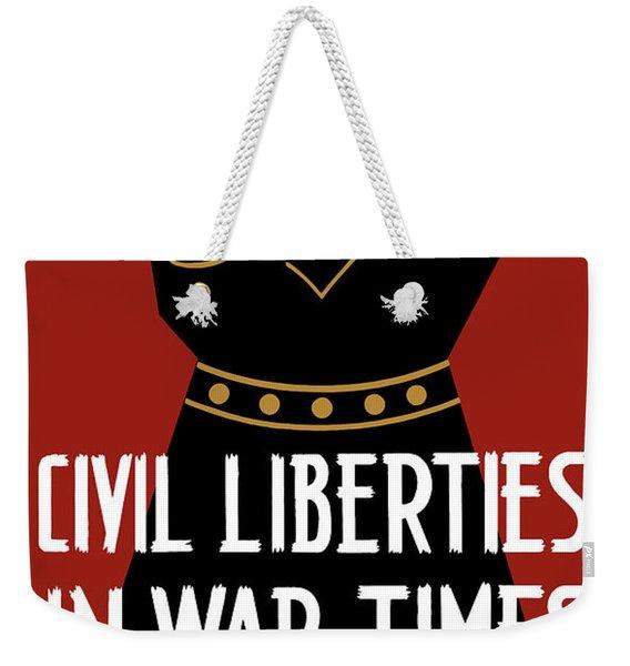 Civil Liberties In War Times - Wpa Weekender Tote Bag