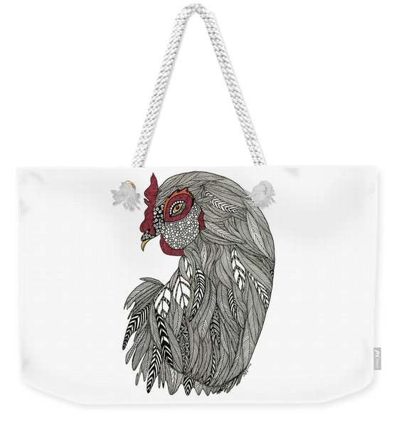 Weekender Tote Bag featuring the drawing Claire  by Barbara McConoughey