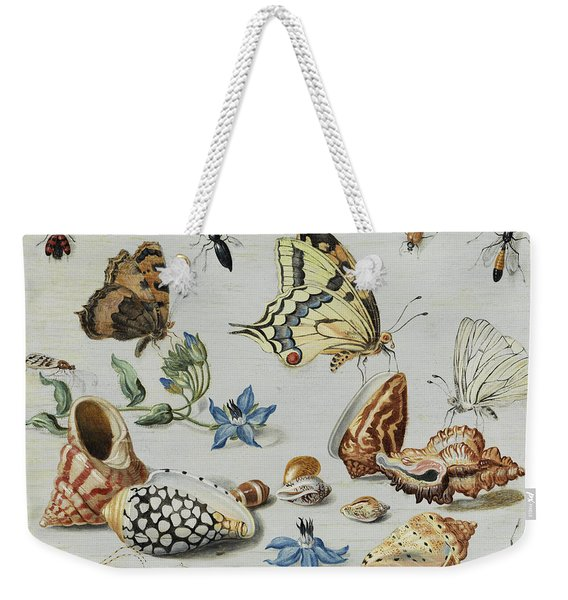 Clams, Butterflies, Flowers And Insects Weekender Tote Bag