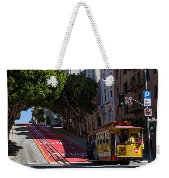 Clang Clang Goes The Cable Car Weekender Tote Bag