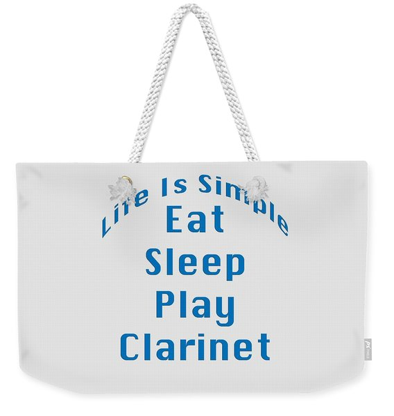 Clarinet Eat Sleep Play Clarinet 5512.02 Weekender Tote Bag