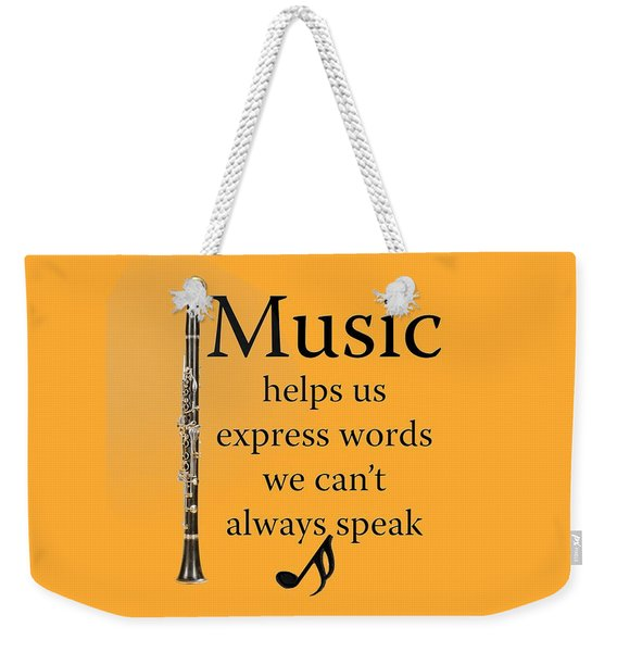Clarinet Music Expresses Words Weekender Tote Bag