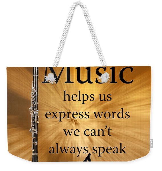 Clarinets Expresses Words Weekender Tote Bag