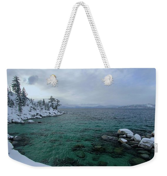Weekender Tote Bag featuring the photograph Clarity In A Winter Storm Sundown by Sean Sarsfield