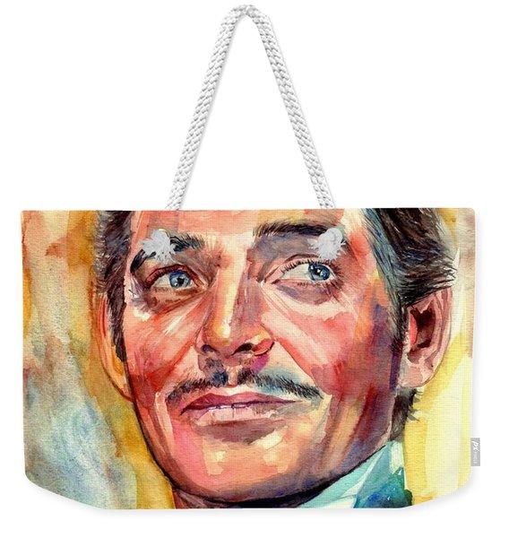Clark Gable Portrait Weekender Tote Bag