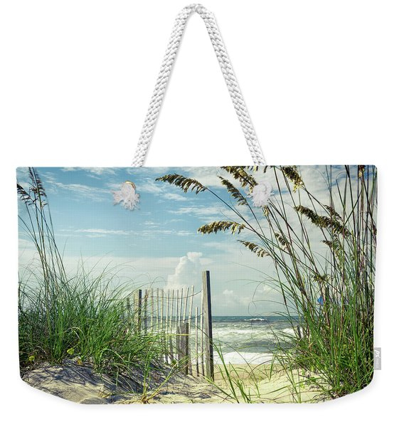 To The Beach Sea Oats Weekender Tote Bag