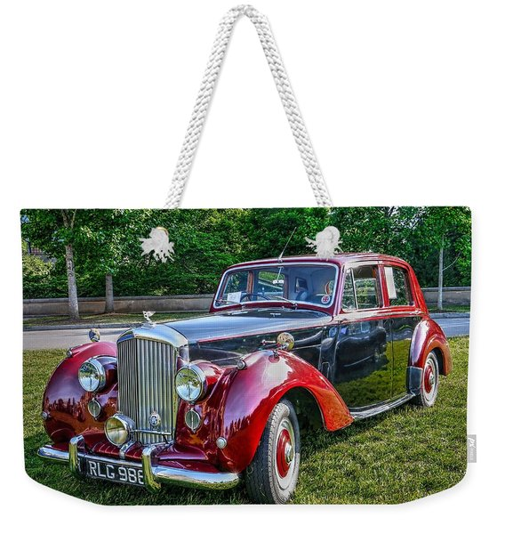 Classic Bentley In Red Weekender Tote Bag