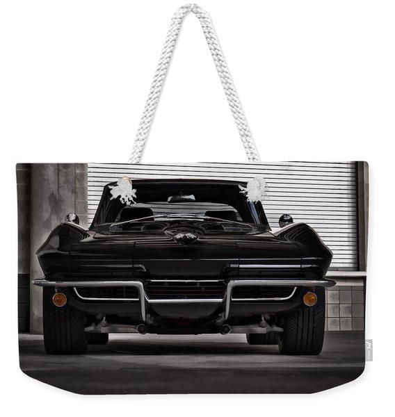 Classic Black Weekender Tote Bag