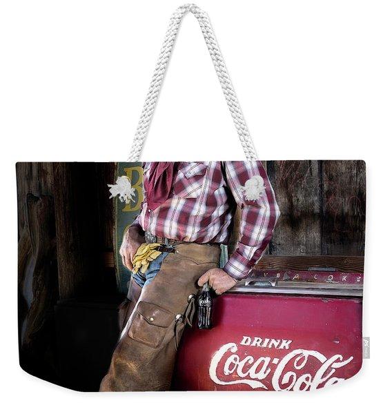 Classic Coca-cola Cowboy Weekender Tote Bag