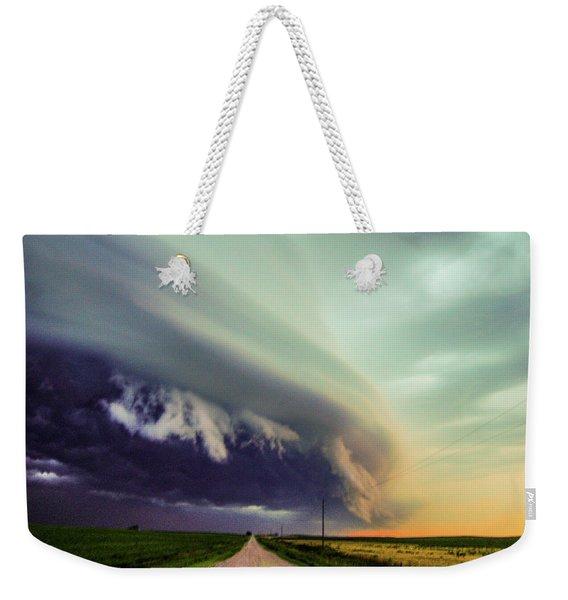 Weekender Tote Bag featuring the photograph Classic Nebraska Shelf Cloud 024 by NebraskaSC