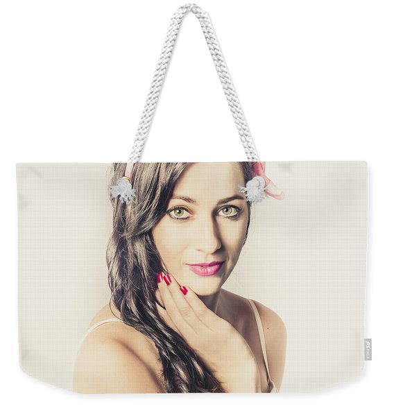 Classic Old Style Pin-up Girl Weekender Tote Bag