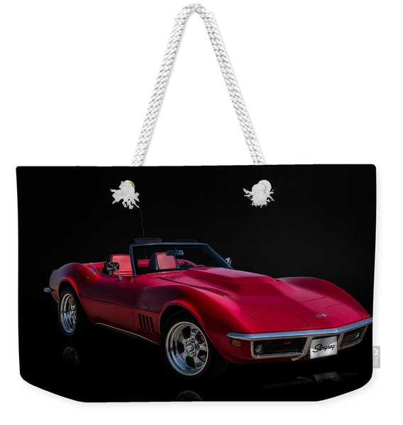 Classic Red Corvette Weekender Tote Bag