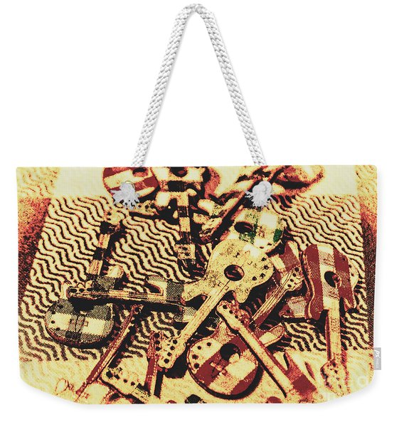 Classic Rock And Roll Art Weekender Tote Bag
