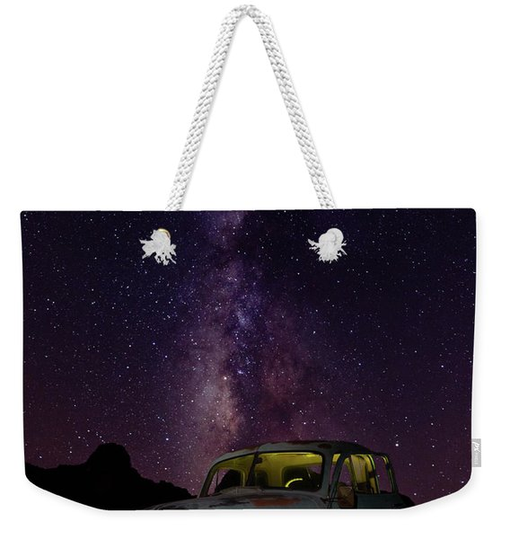 Classic Truck Under The Milky Way Weekender Tote Bag