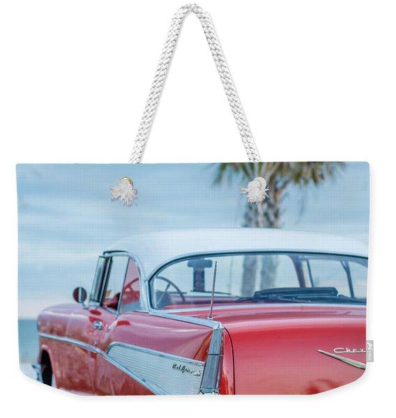Classic Vintage Red Chevy Belair  Weekender Tote Bag