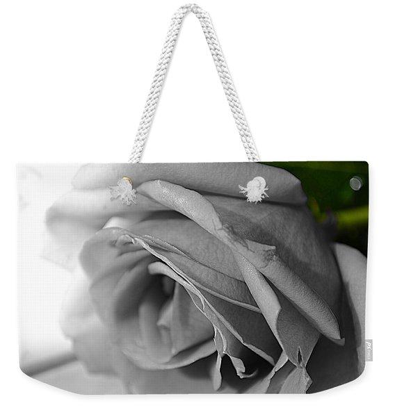 Classic White Rose Weekender Tote Bag