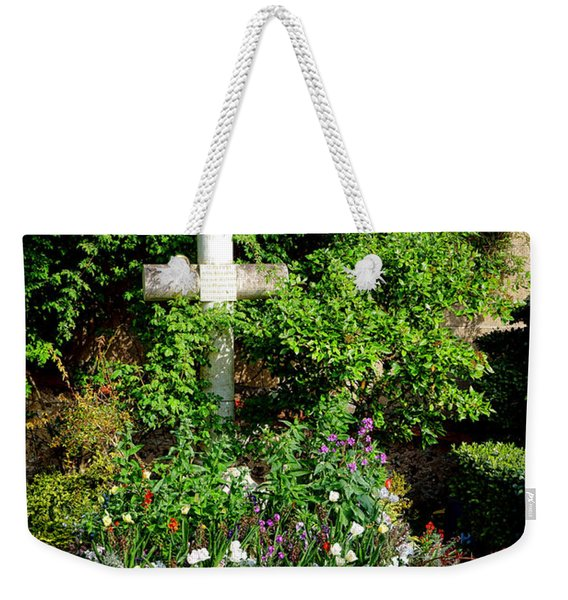 Claude Monet Grave In Giverny Weekender Tote Bag