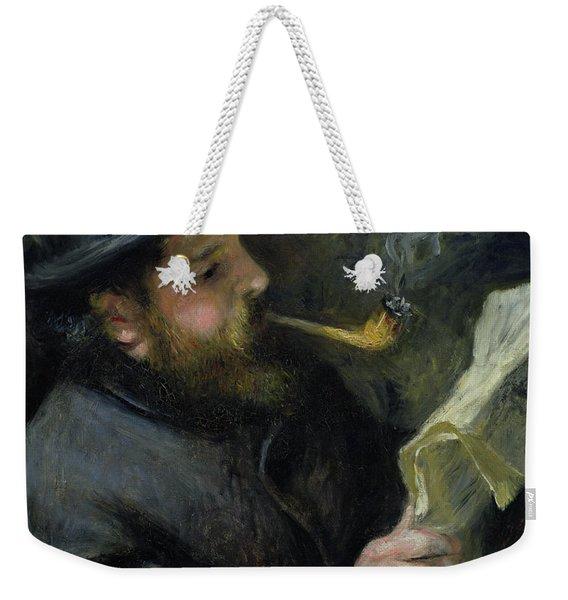 Claude Monet Reading A Newspaper Weekender Tote Bag