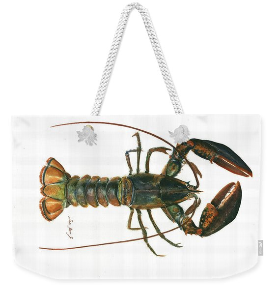 Clawed Lobster Art Weekender Tote Bag