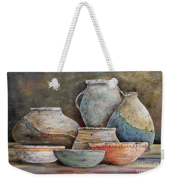 Clay Pottery Still Lifes-a Weekender Tote Bag