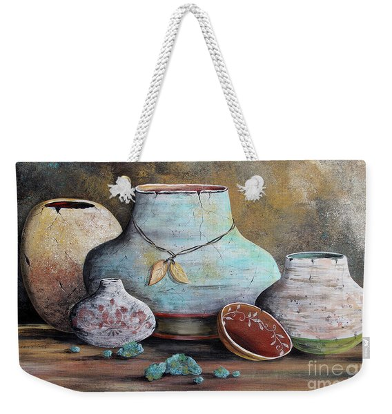 Clay Pottery Still Lifes-b Weekender Tote Bag