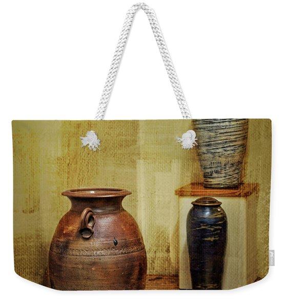 Clay - Wood Weekender Tote Bag