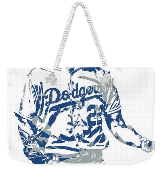 Clayton Kershaw Los Angeles Dodgers Pixel Art 10 Weekender Tote Bag