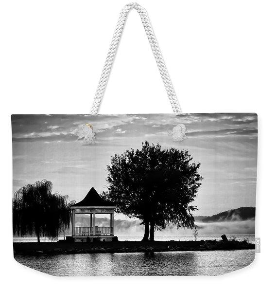 Claytor Lake Gazebo - Black And White Weekender Tote Bag