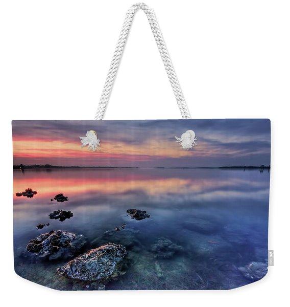 Clear Blue Morning Weekender Tote Bag