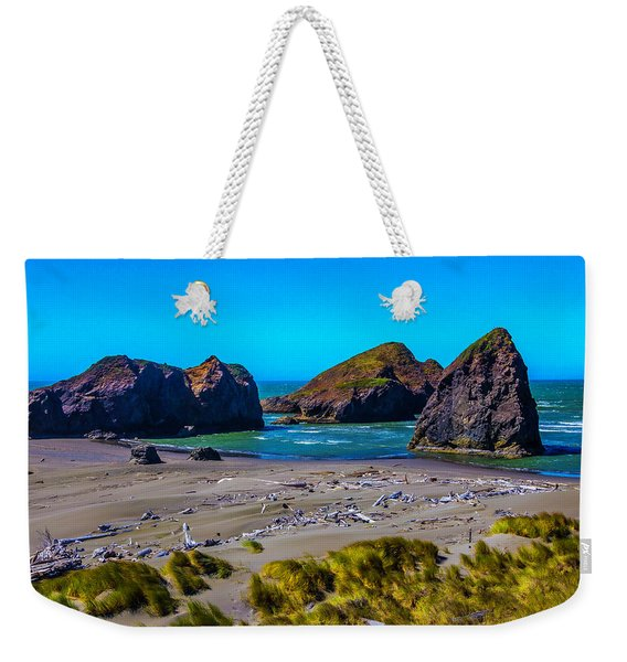 Clear Day At Meyers Beach Weekender Tote Bag