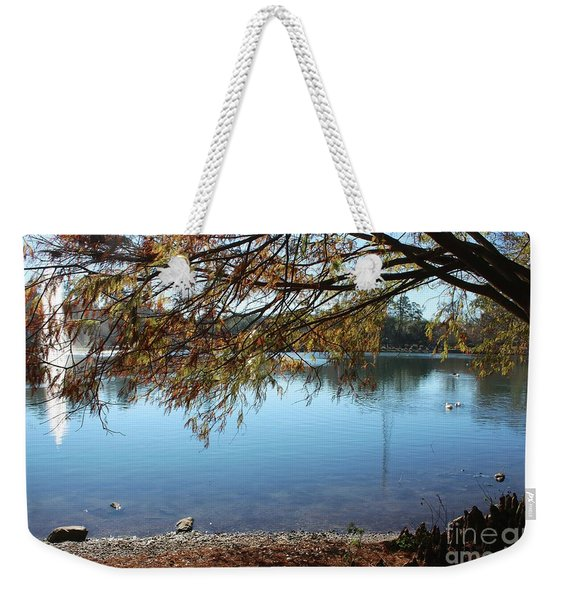 Clear Lake Ella With Fountain Weekender Tote Bag