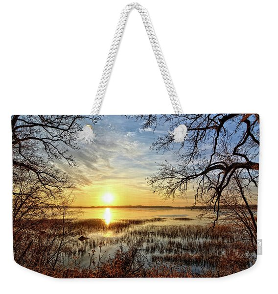 Clear Lake Sunrise 3 Weekender Tote Bag