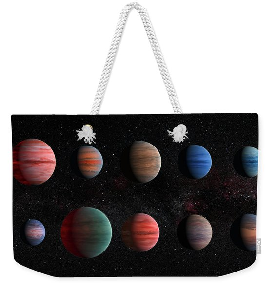 Clear To Cloudy Hot Jupiters Weekender Tote Bag