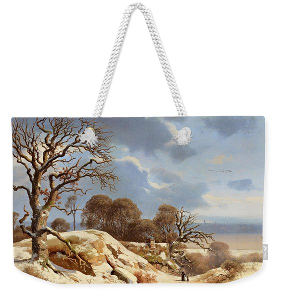 Clear Winter's Day By The Baltic Sea Weekender Tote Bag