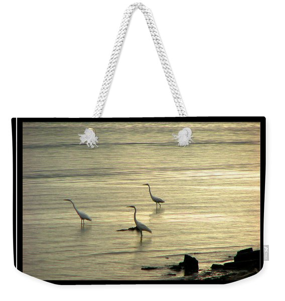 Weekender Tote Bag featuring the photograph Clearwater Beach by Carolyn Marshall