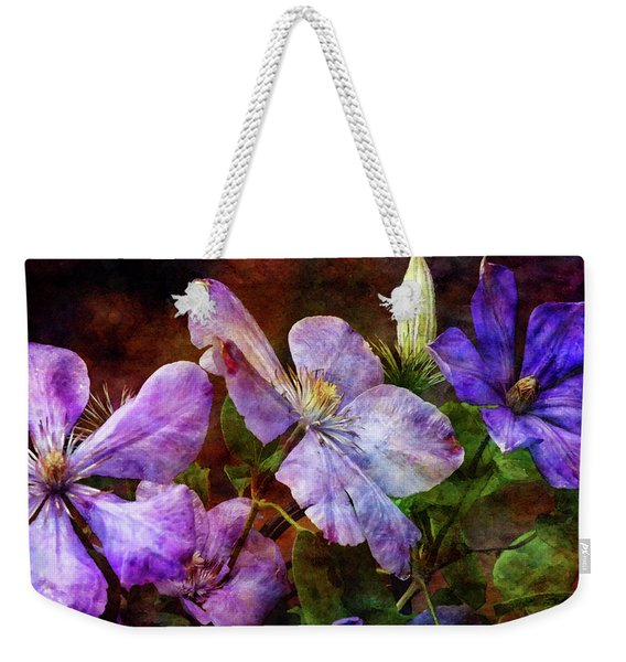 Clematis 1330 Idp_2 Weekender Tote Bag