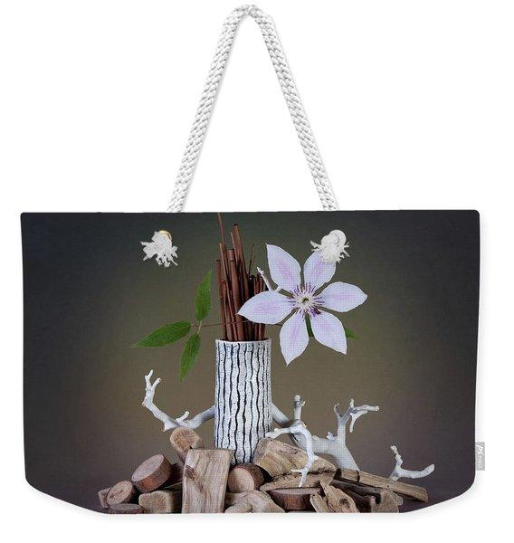 Clematis Blossom Weekender Tote Bag