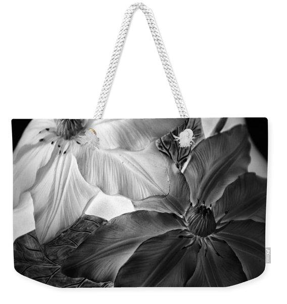 Clematis Overlay Weekender Tote Bag