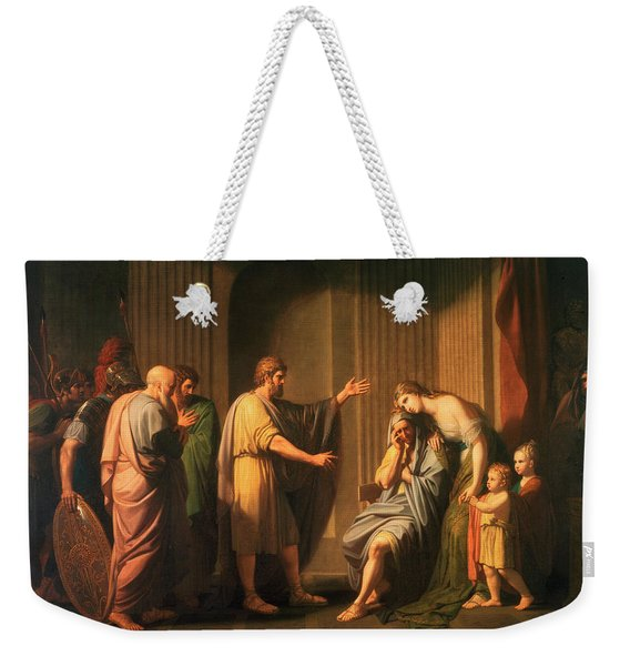 Cleombrotus Ordered Into Banishment By Leonidas II, Kincleombrotus Ordered Into Banishmeng Of Sparta Weekender Tote Bag