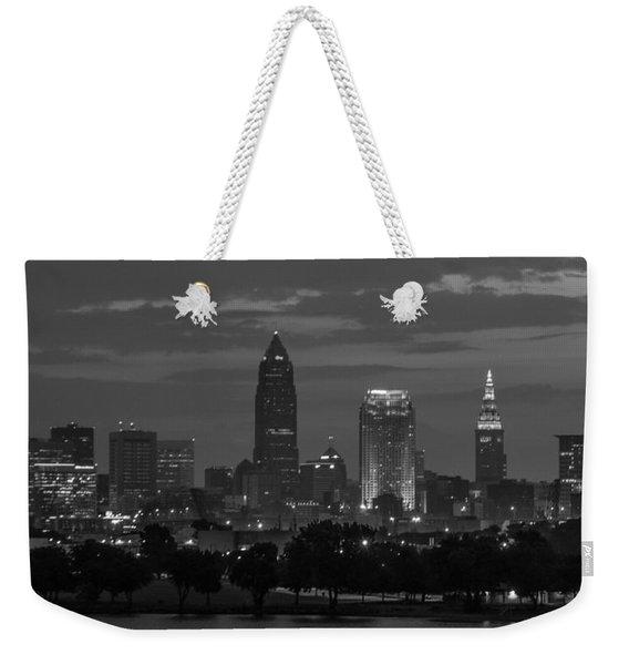 Cleveland After Dark Weekender Tote Bag