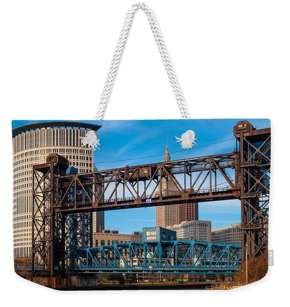 Cleveland City Of Bridges Weekender Tote Bag