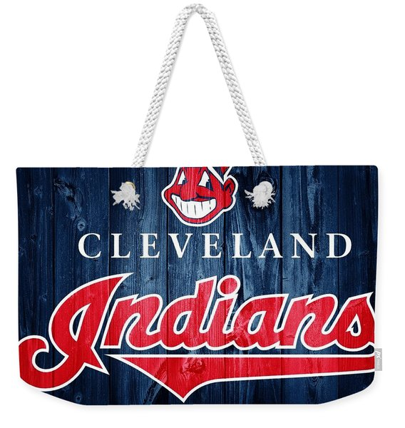 Cleveland Indians Barn Door Weekender Tote Bag