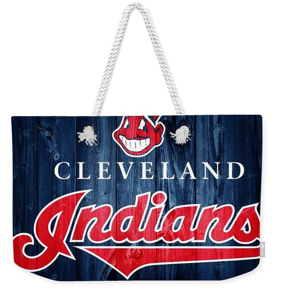 Cleveland Indians Barn Door Weekender Tote Bag