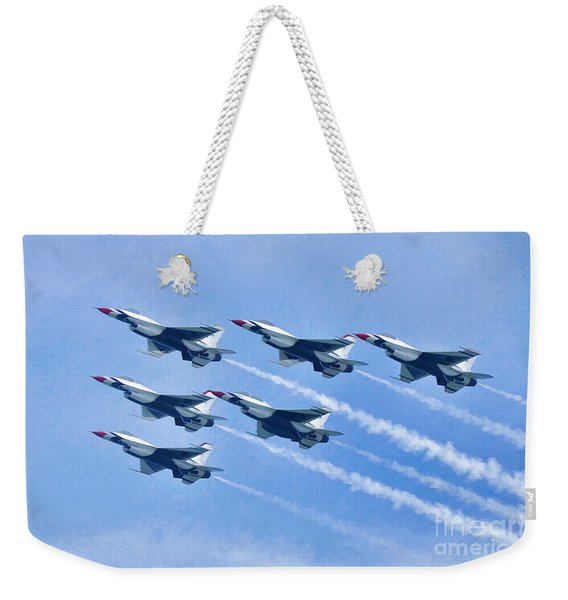 Cleveland National Air Show - Air Force Thunderbirds - 1 Weekender Tote Bag